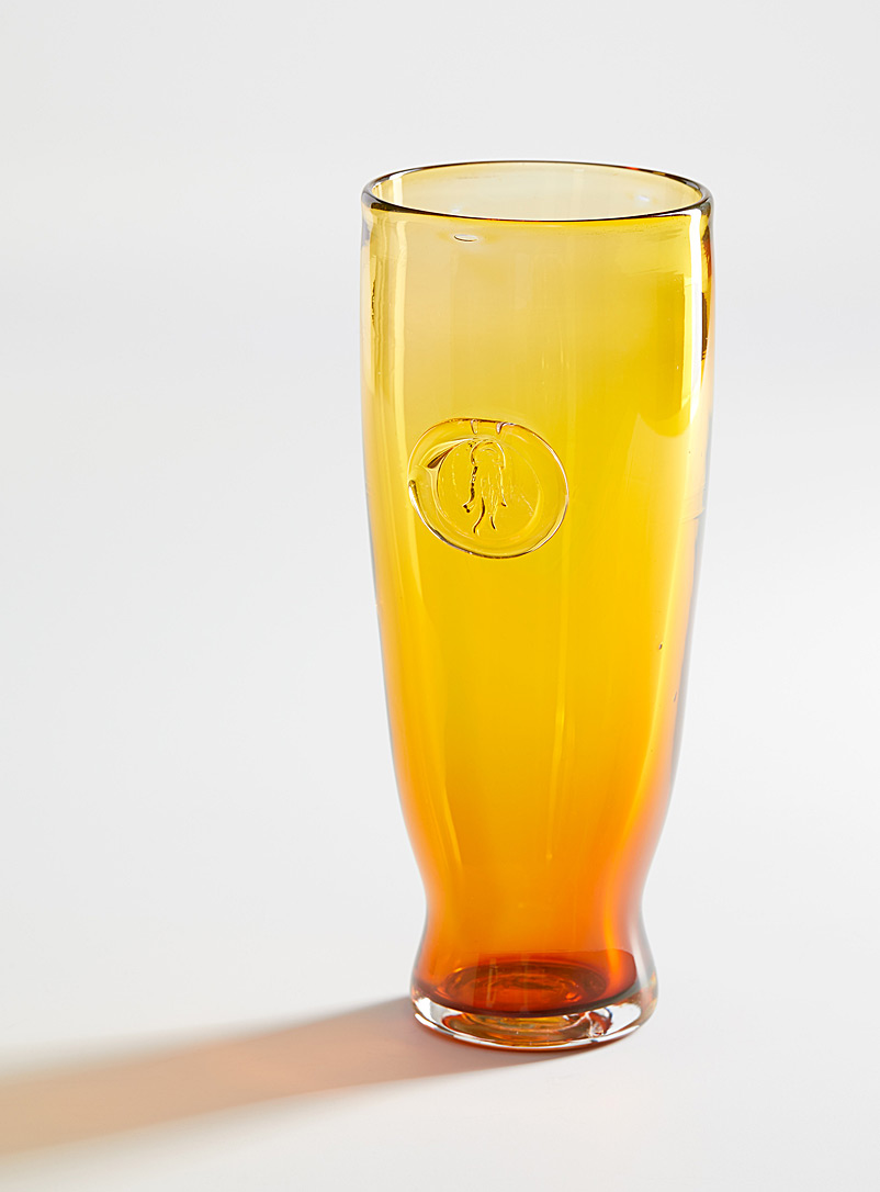 Blown glass beer glass