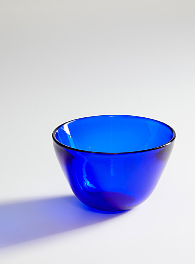 La Méduse Blue Blown glass bowl