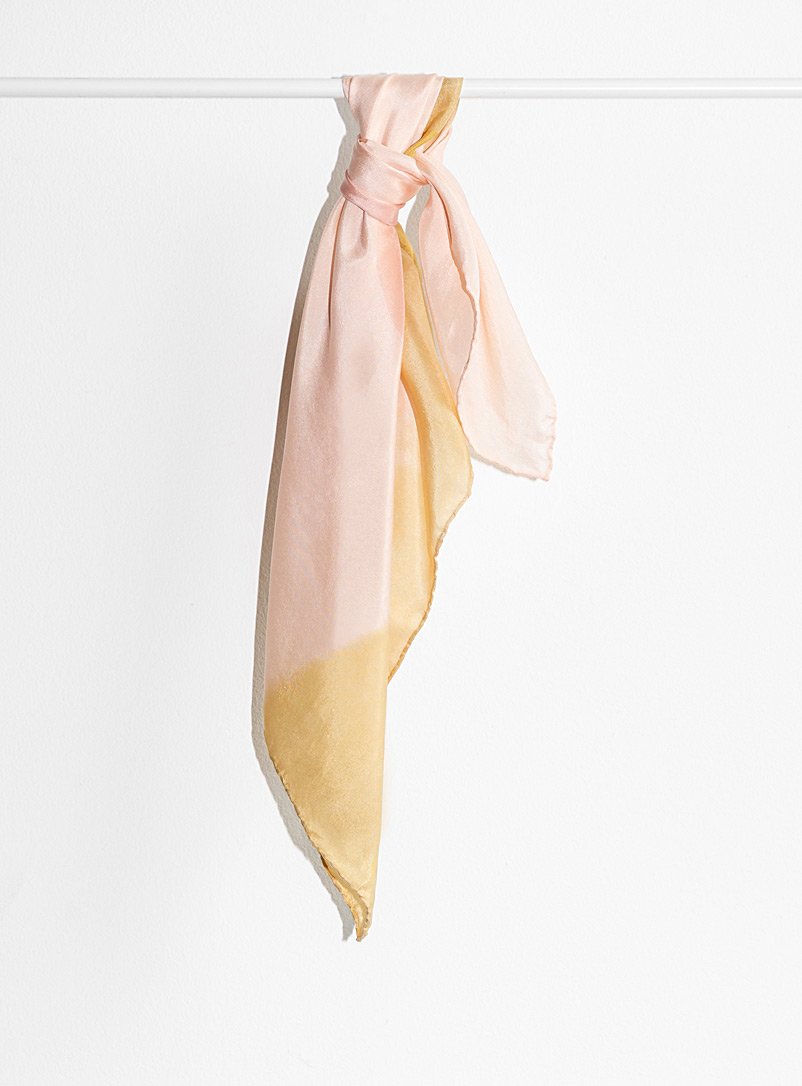 Small soft pink and gold scarf