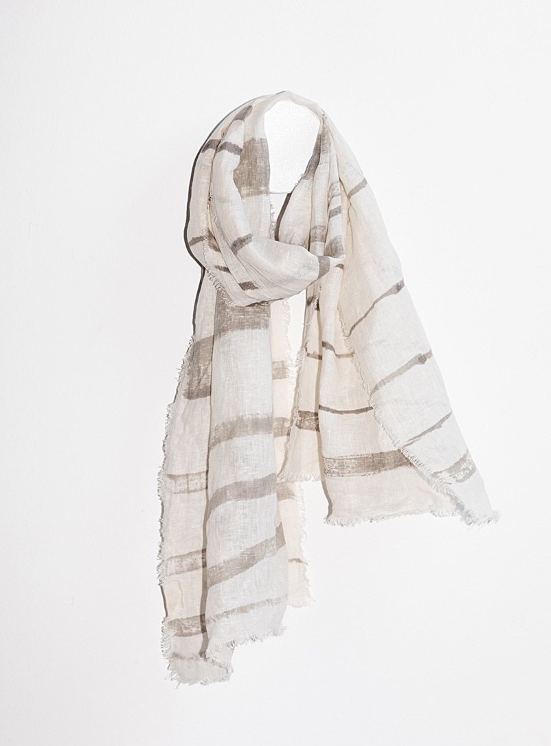 Shoreline striped scarf  Available in two sizes