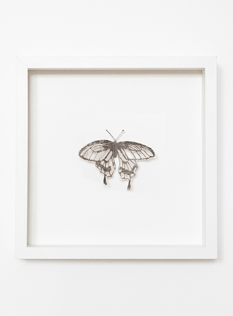 Tania Love White Butterfly I wall art 10.75 x 10.75 in