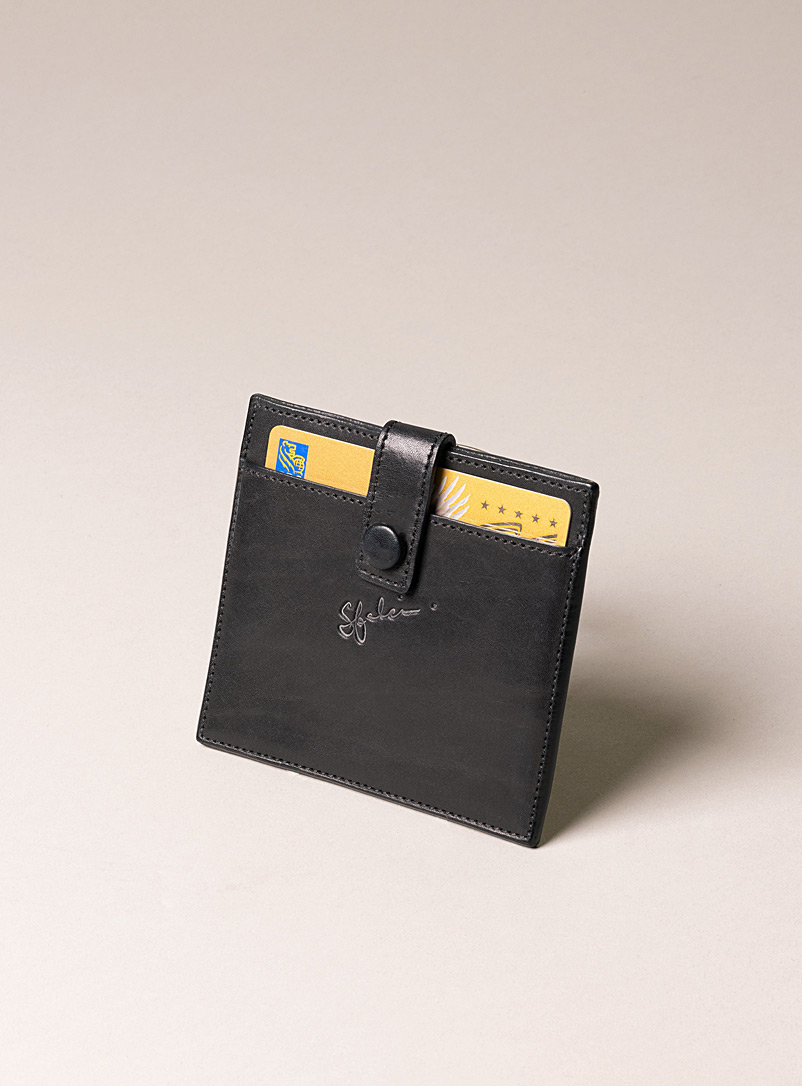Sfalci Black Leather card holder