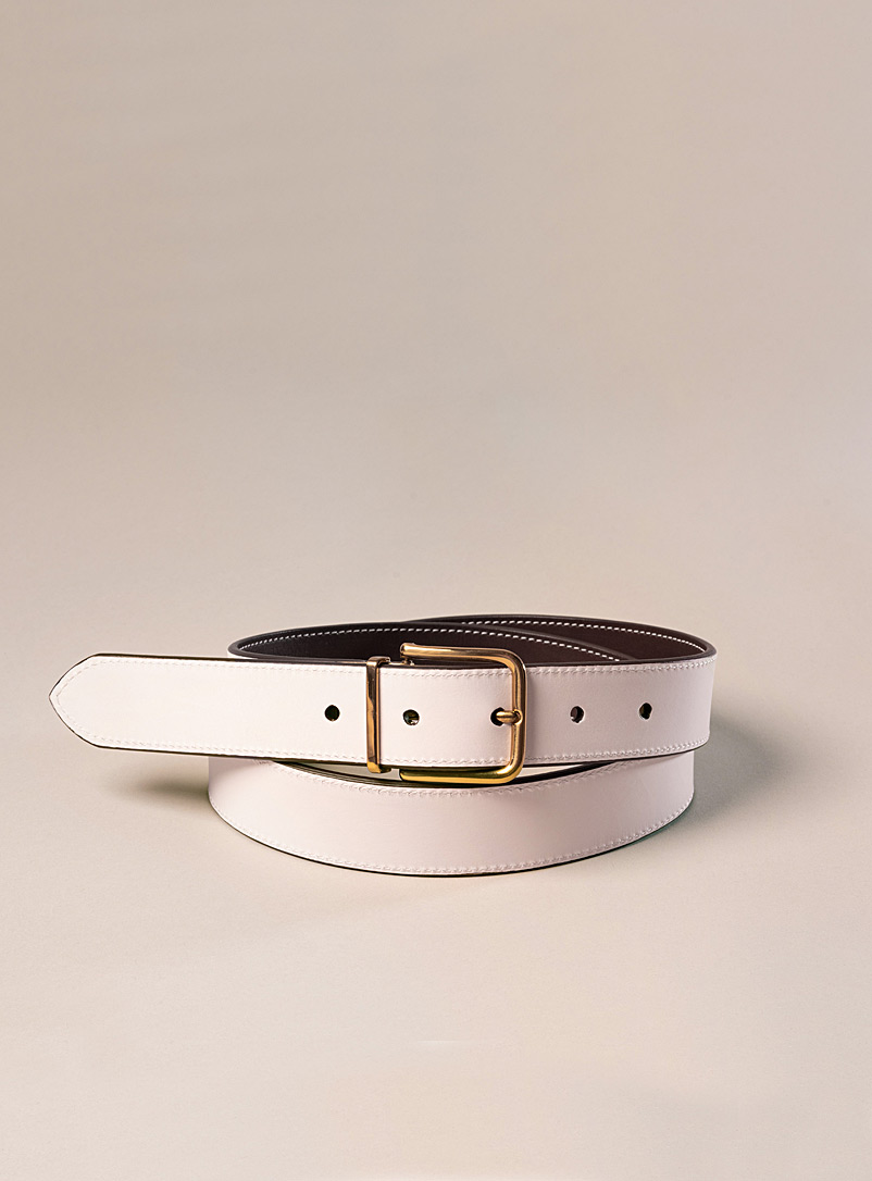 Lawrence reversible leather belt
