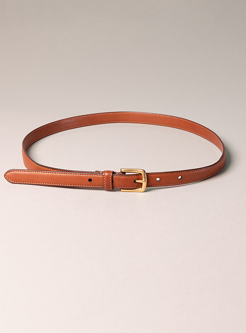Sfalci Fawn Weatherby leather belt