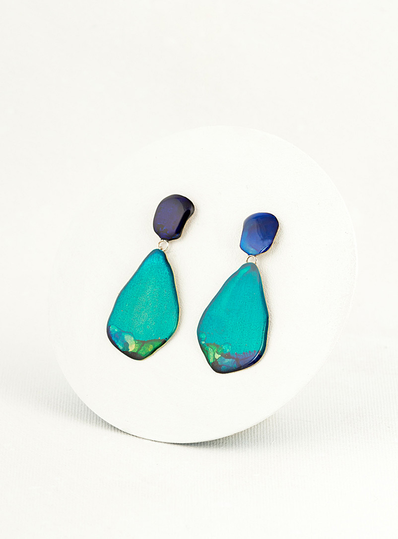 Les Joanneries Blue Small teardrop earrings