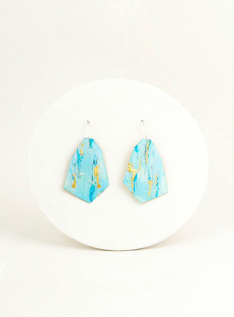 Les Joanneries Baby Blue Small angular earrings