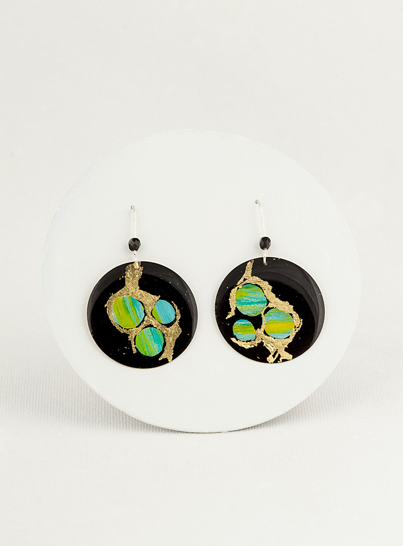 Les Joanneries Green Round earrings