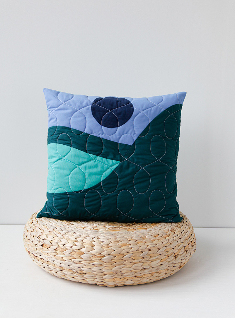 Le point visible Assorted Summit quilt cushion  51 x 51 cm