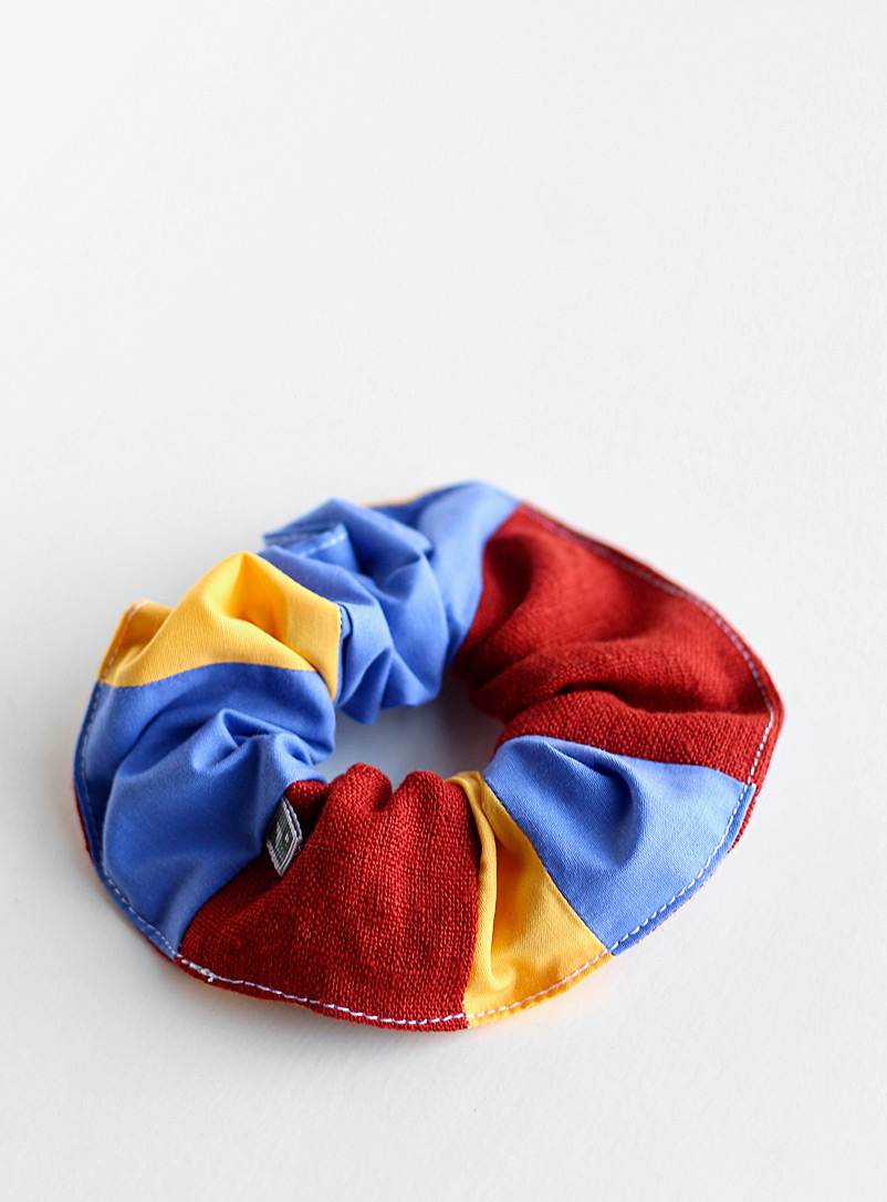 Le point visible Assorted Quilted scrunchies Set of 3
