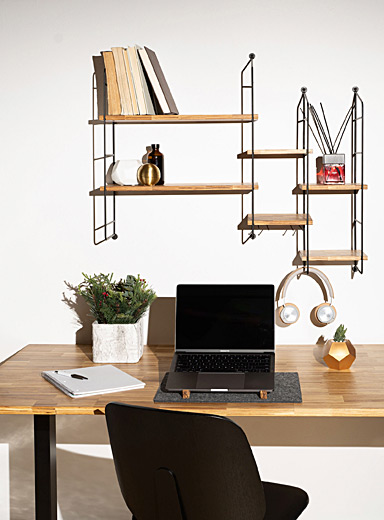 Recycled chopstick adjustable height desk