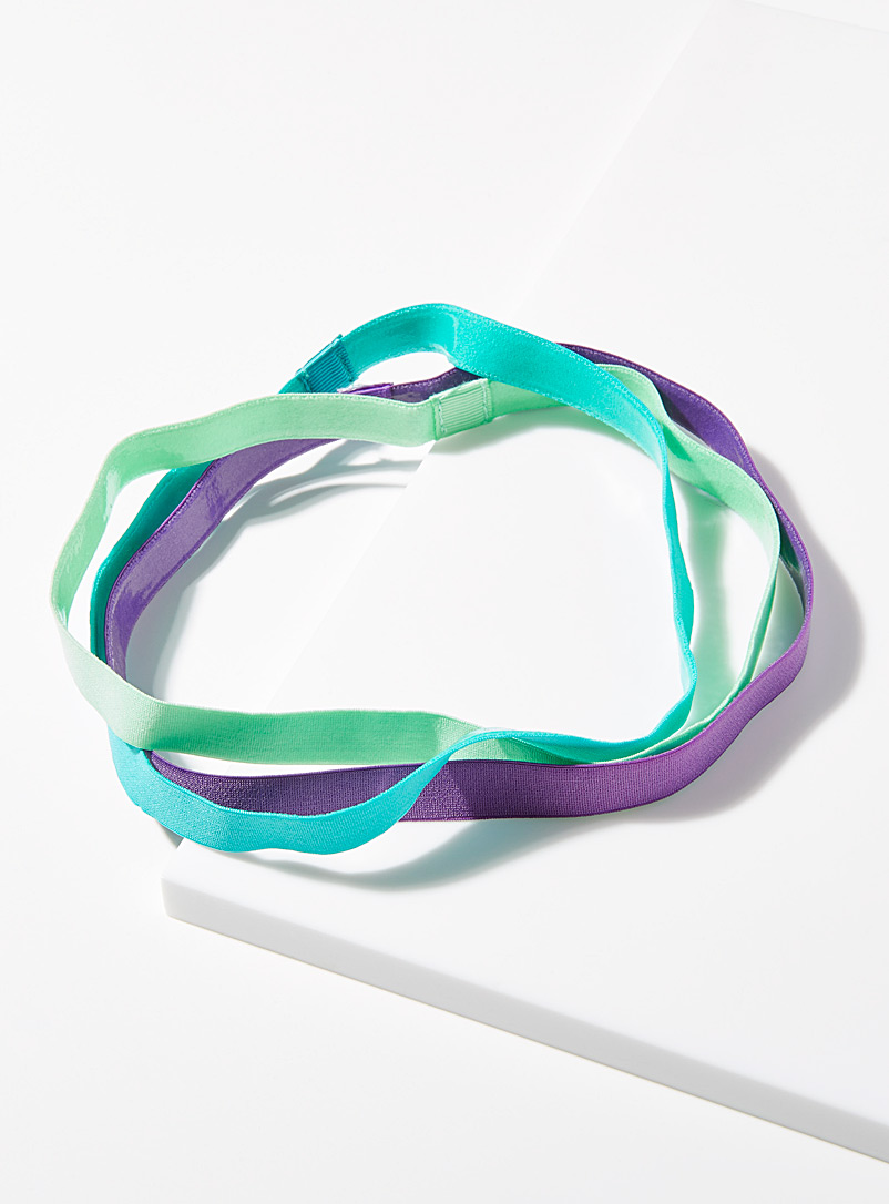 Simons Assorted blue  Colourful sporty headbands  Set of 3 for women