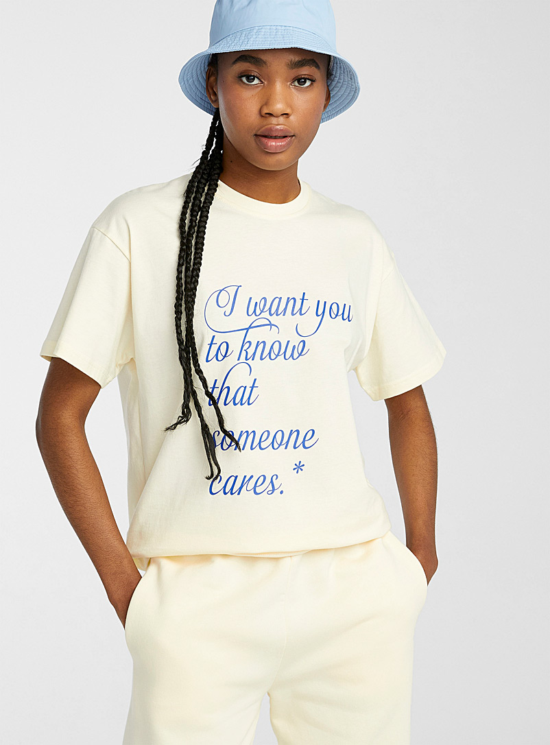 Local Heroes White Cursive phrase tee for women