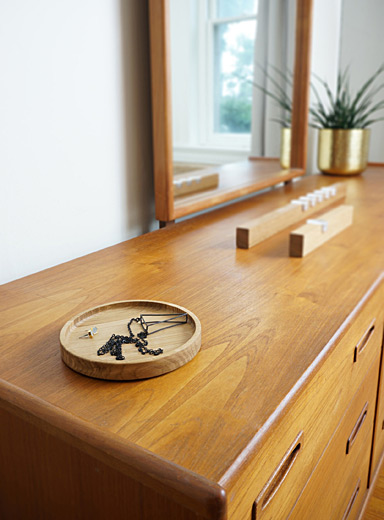 Rekindle Brown Round oak tray  3 sizes available