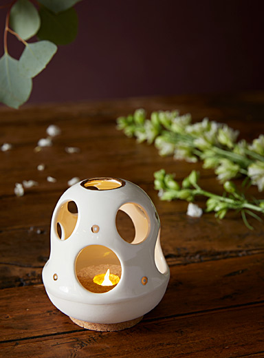 Eve m Laliberté: La lampe de table Cloche Blanc