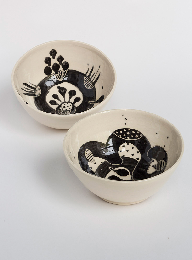 Marie Serreau Black Traces earthenware bowl