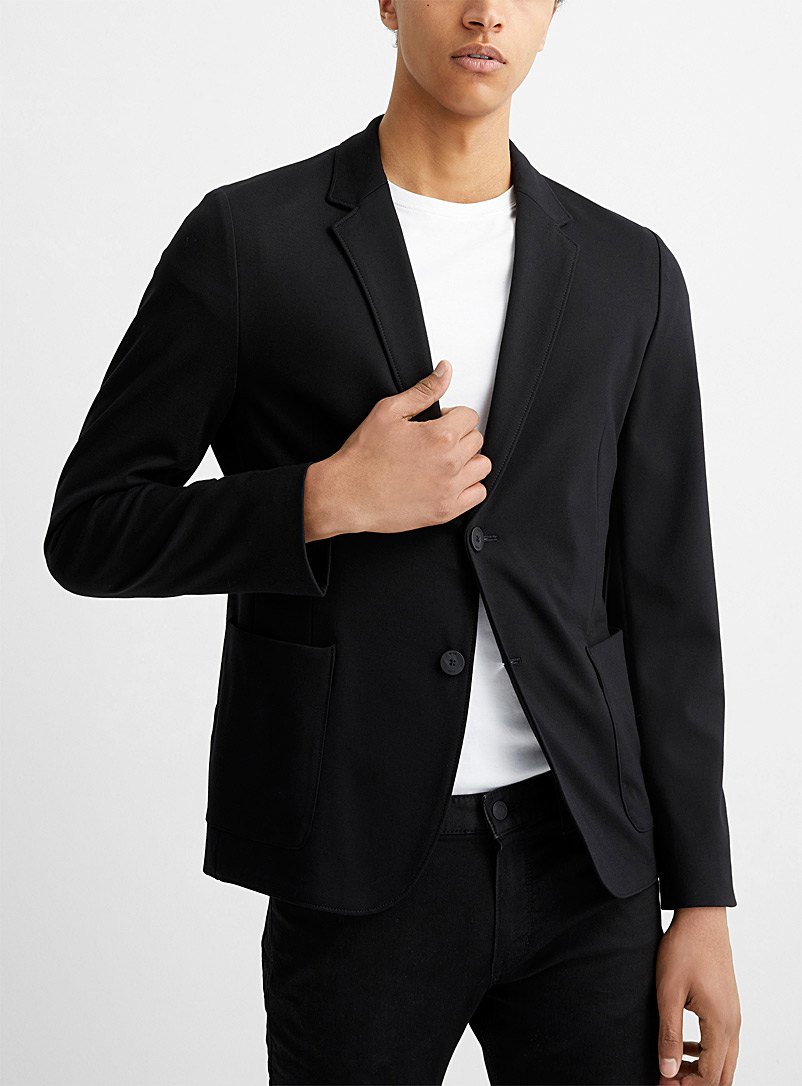 HUGO Black Black stretch jersey jacket Slim fit for men