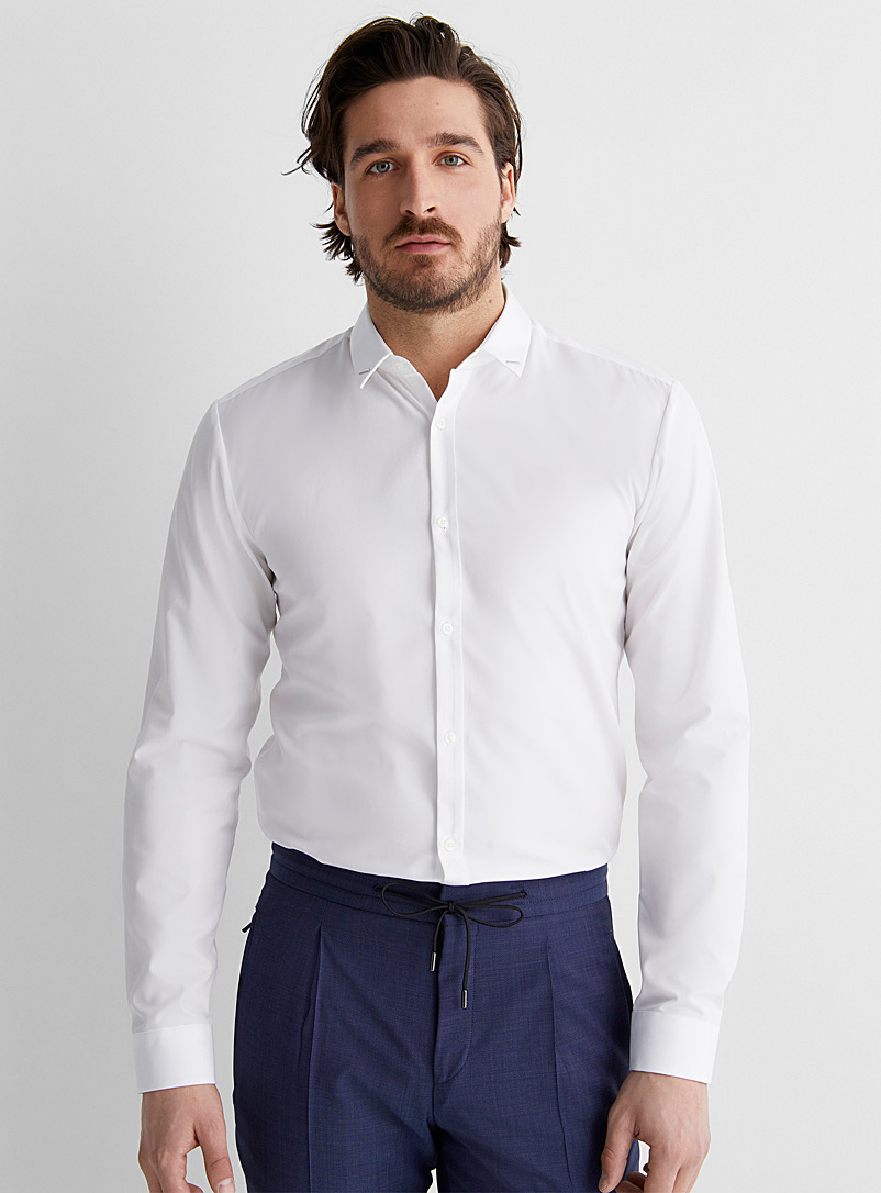 HUGO White Signature collar shirt Extra slim fit for men