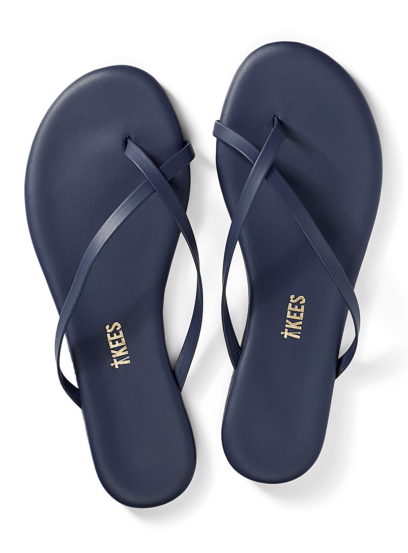 Tkees Dark Blue Riley beach sandals for women