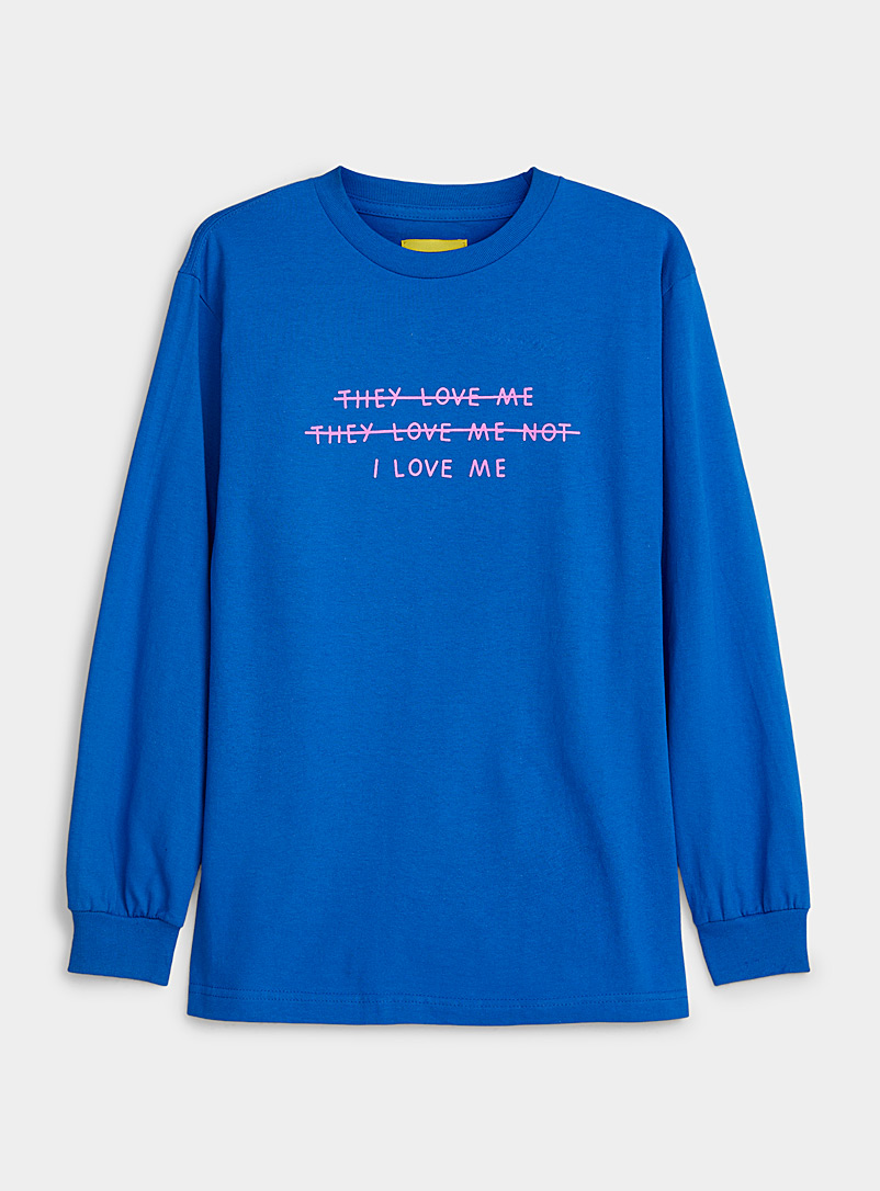 Pony Blue I Love Me T-shirt for women
