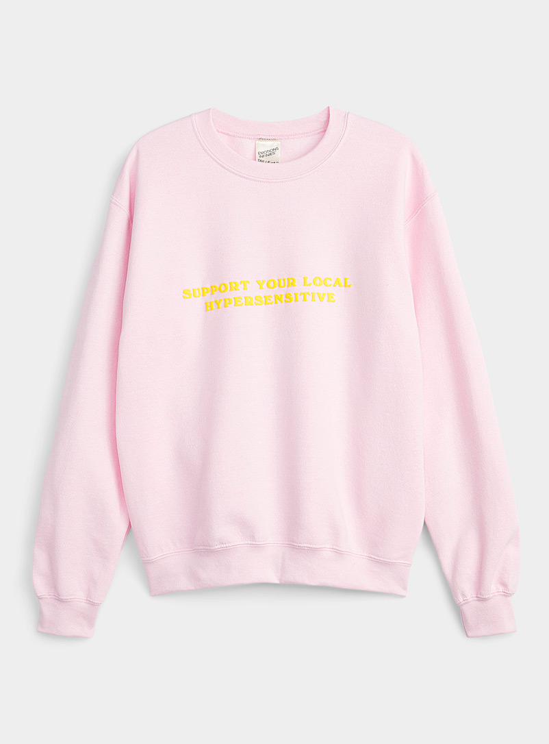 Pony Emotions Infinies: Le sweat Hypersensitive Rose pour femme