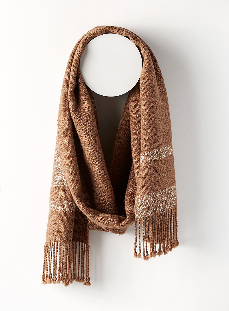 Atelier Monique Ratelle Sand Alpaca wool scarf