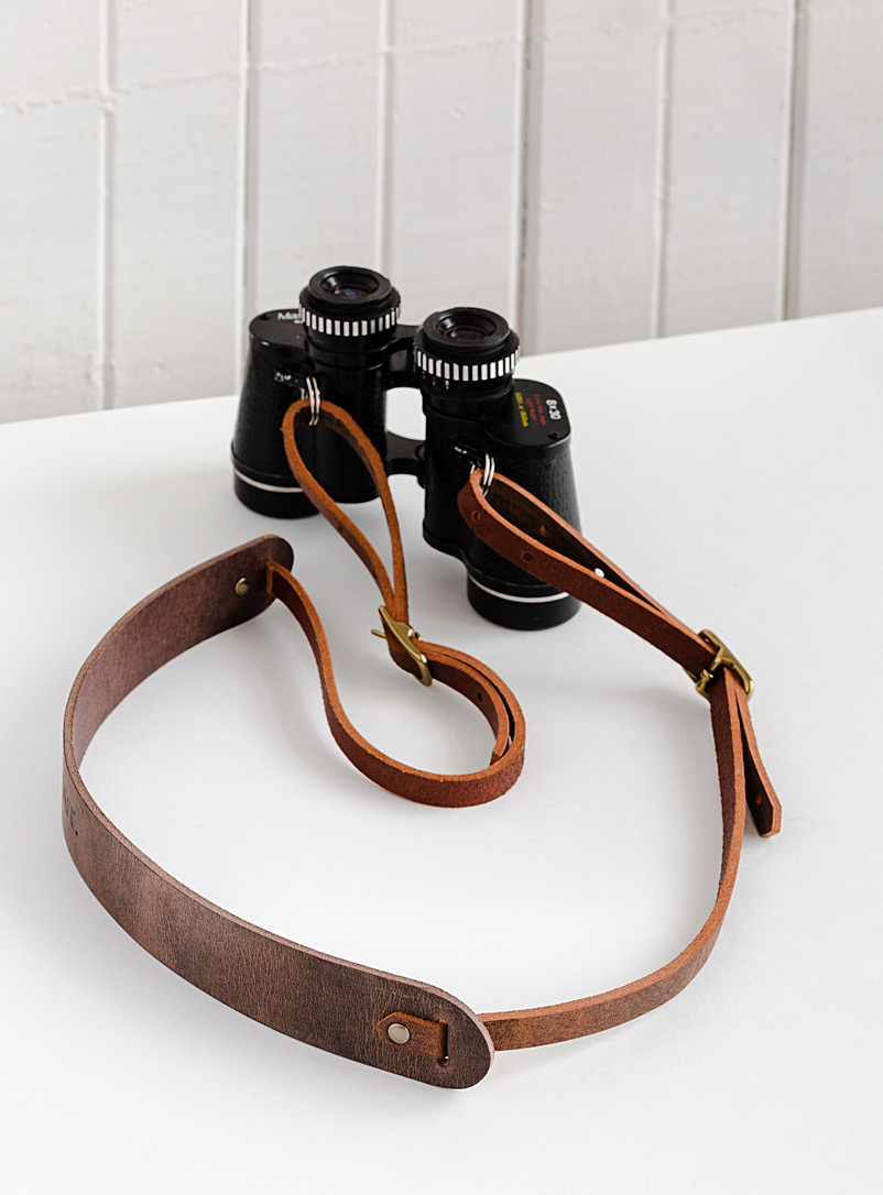 OUT Brown Emmi binocular and camera strap