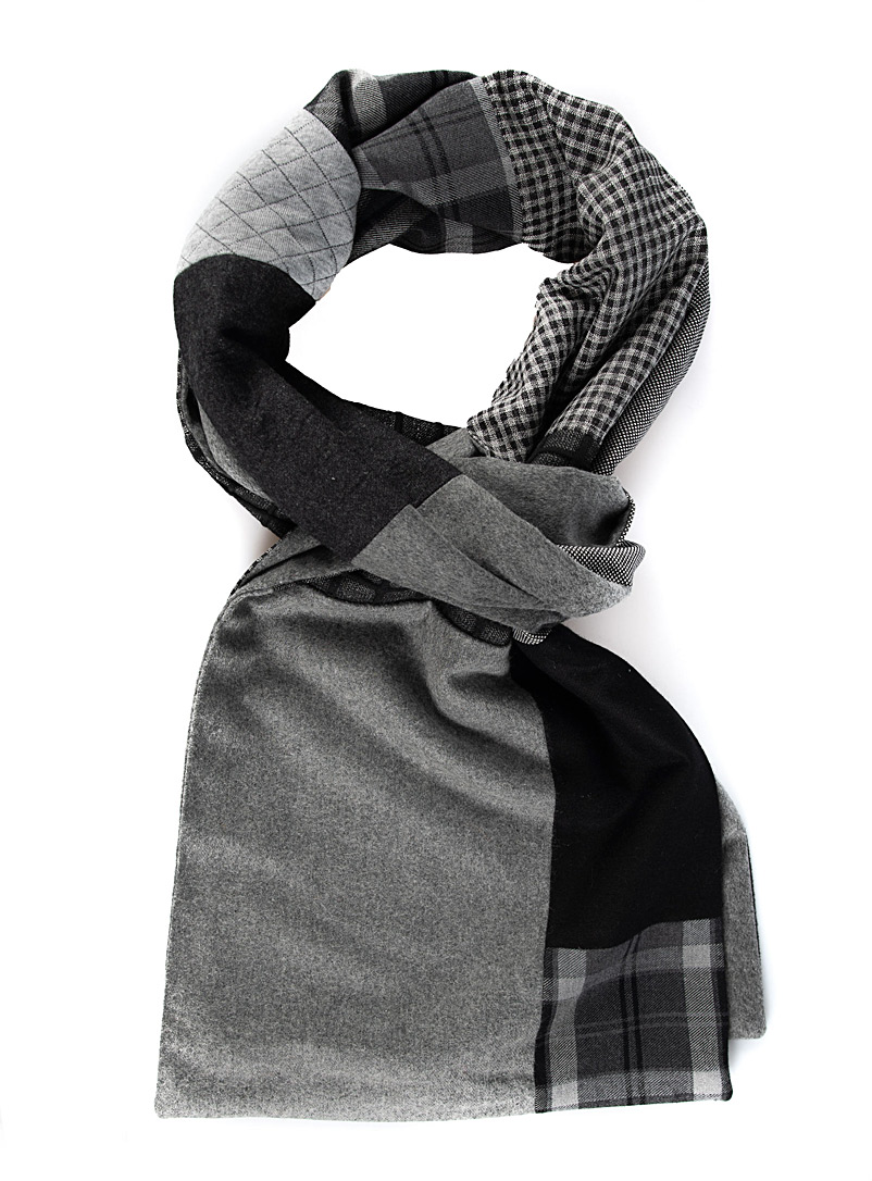 Swell Fellow Grey Reversible world citizen scarf
