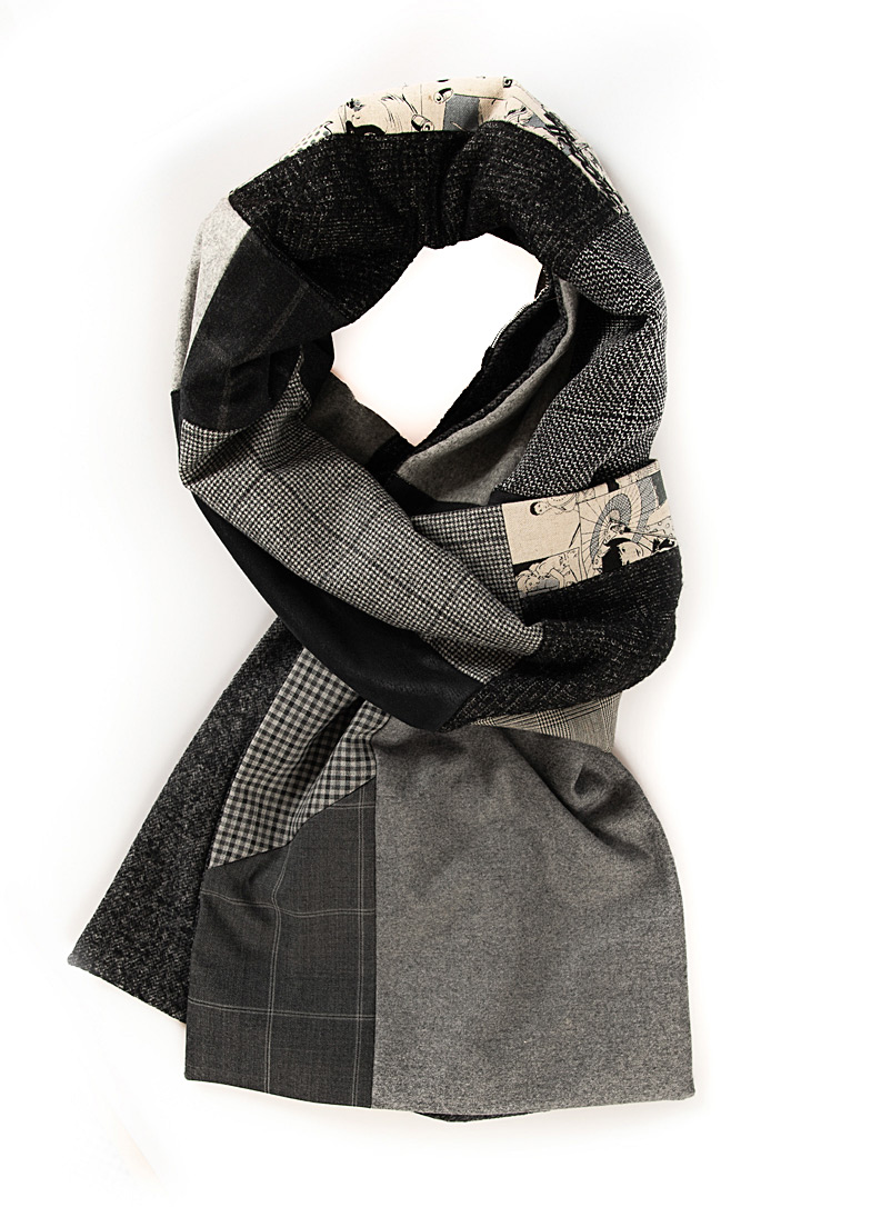 Swell Fellow Grey Reversible scarf