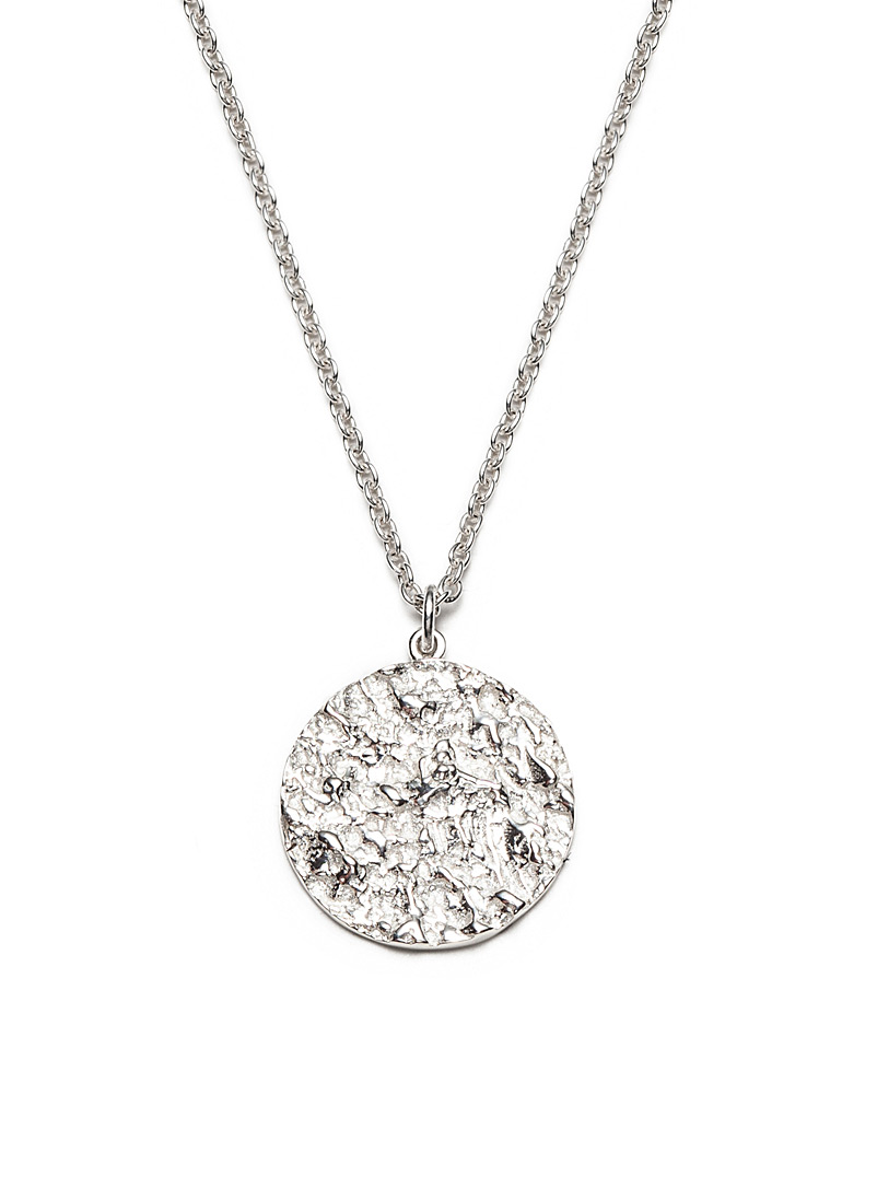 Atelier LAF Silver Mineral medallion silver pendant