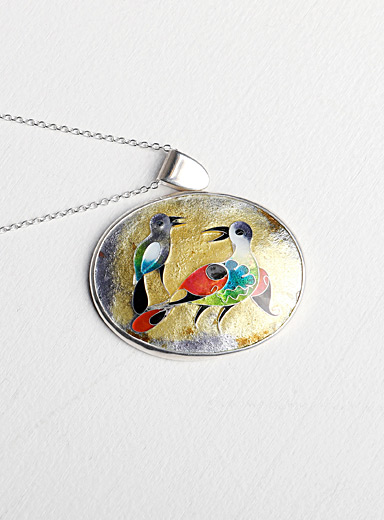Birds in time pendant