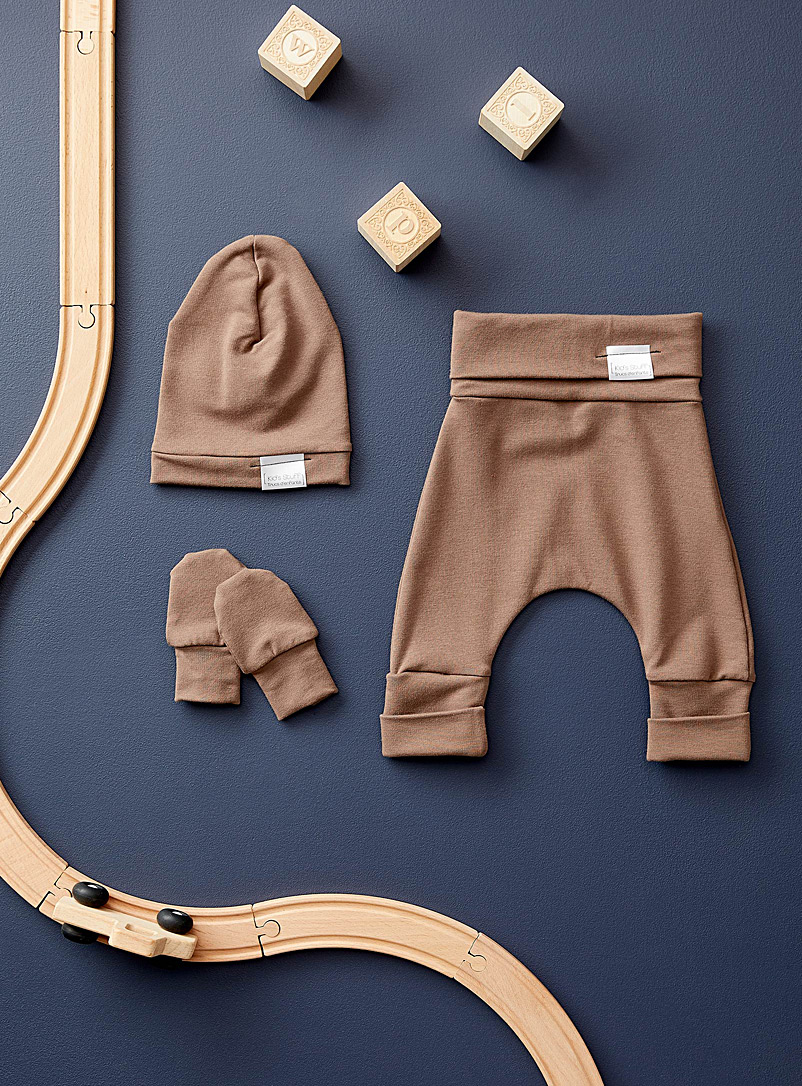 Trucs d'enfants Light Brown Newborn grow-with-me set