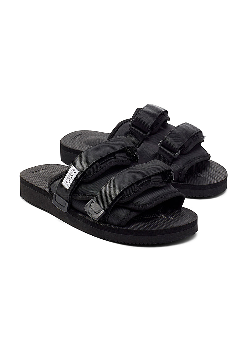 Suicoke Black MOTO-CAB utility slides Men for men