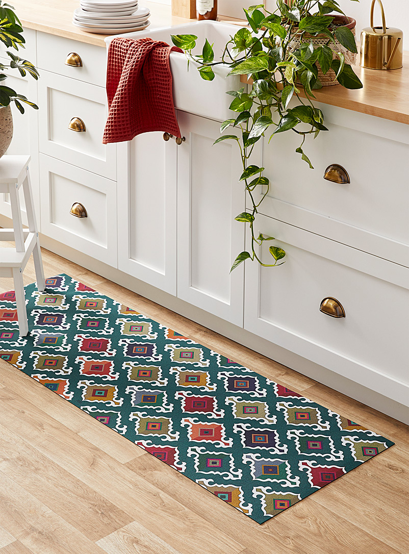 Multicolour medallion kitchen mat 52 x 150 cm