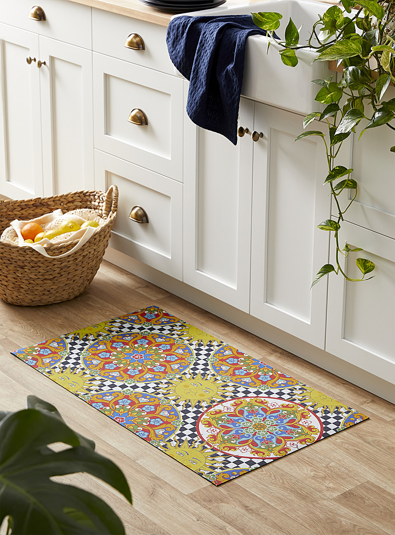 Simons Maison Assorted Eclectic collage kitchen mat 52 x 90 cm