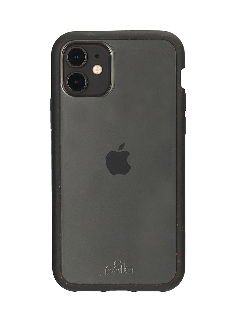 Pela Black Eco-friendly transparent iPhone 11 case for women