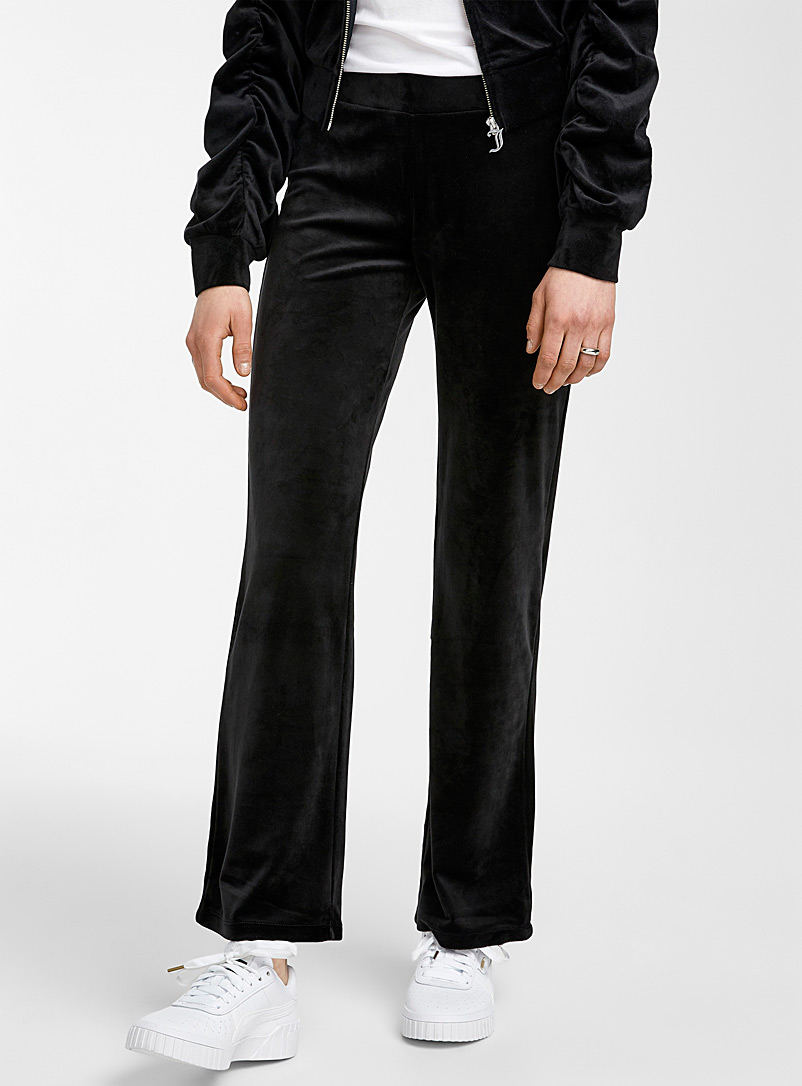 Juicy Couture Black Velvety straight pant for women