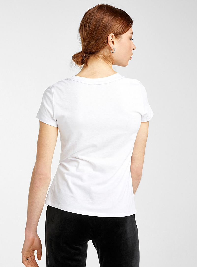 Juicy Couture White Since 1995 logo tee for women