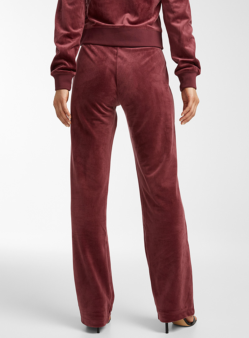 Juicy Couture Ruby Red Burgundy velvet pant for women