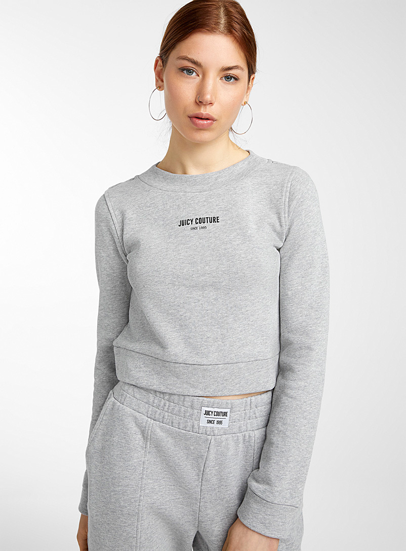 Juicy Couture Grey Since 1995 logo sweatshirt for women