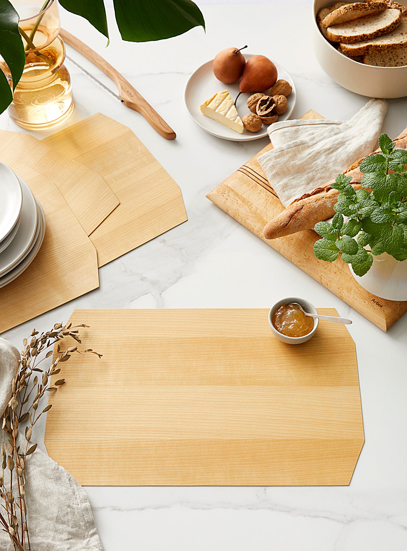 Bom(design) Baltic Birch Genuine wood placemats  Set of 4