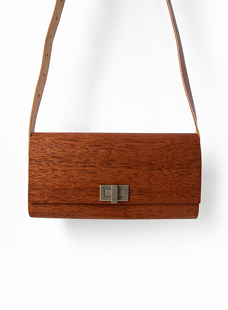 Bom(design) Mahogany Genuine wood koula bag