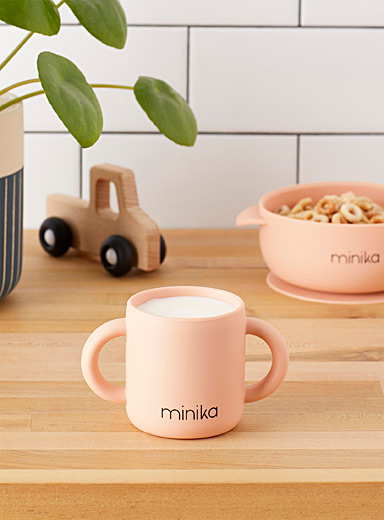 Minika Pink Silicone learning cup