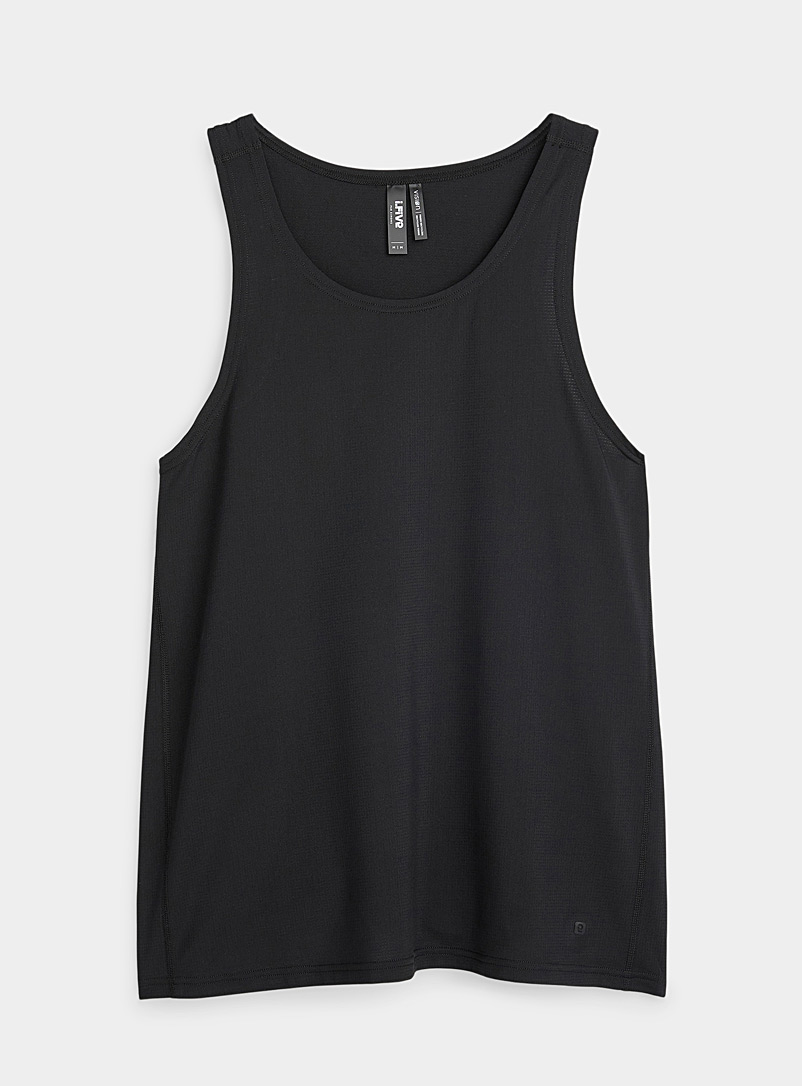 I.FIV5 Black Micro-perforated fluid tank for men