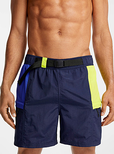 Tactical block swim trunk