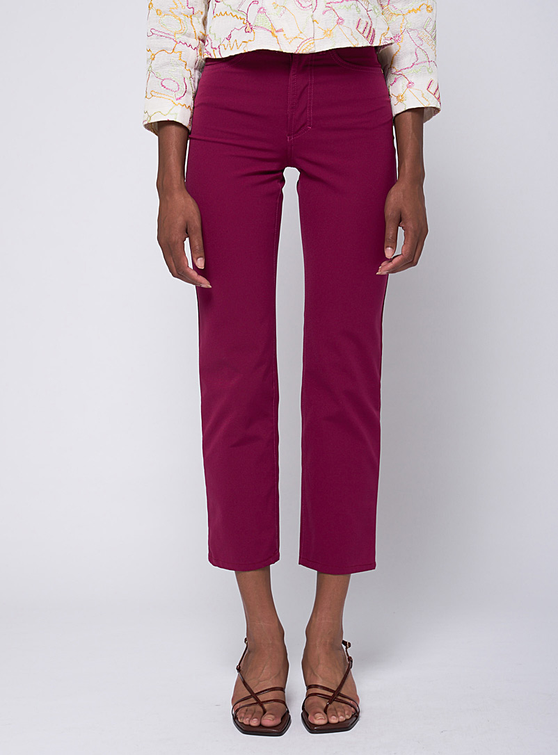 Raspberry-coloured jean  Versace Jeans Couture