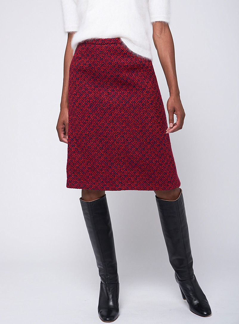 VSP Consignment Assorted Multi-coloured tweed skirt  Pierre Balmain for women