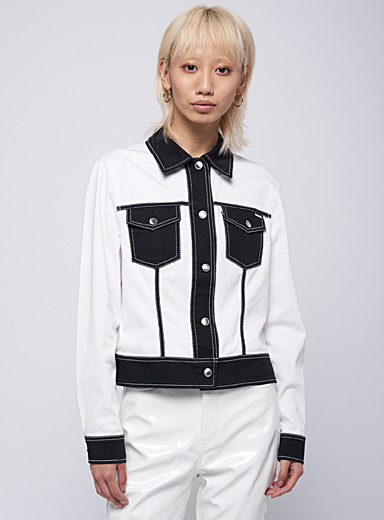 Two-tone patch-pocket jacket  Escada Sport