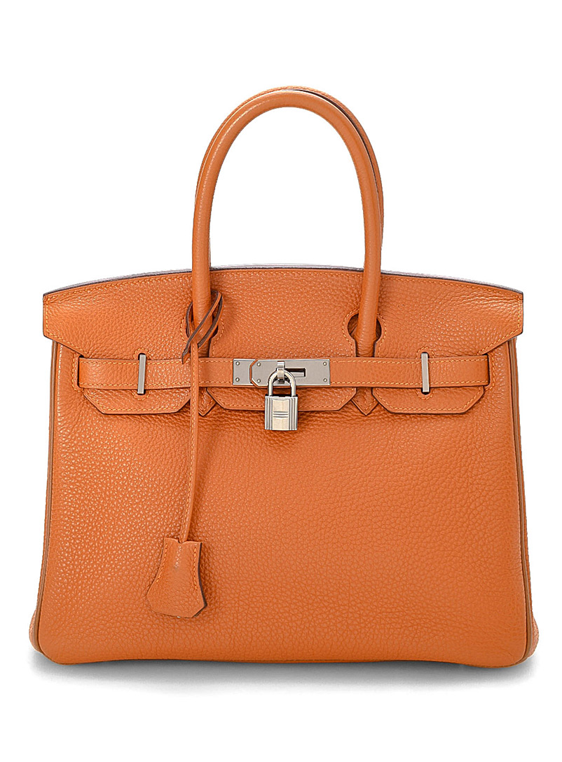 LXRandCo Orange Bright orange Birkin 30 Togo bag  Hermès for women