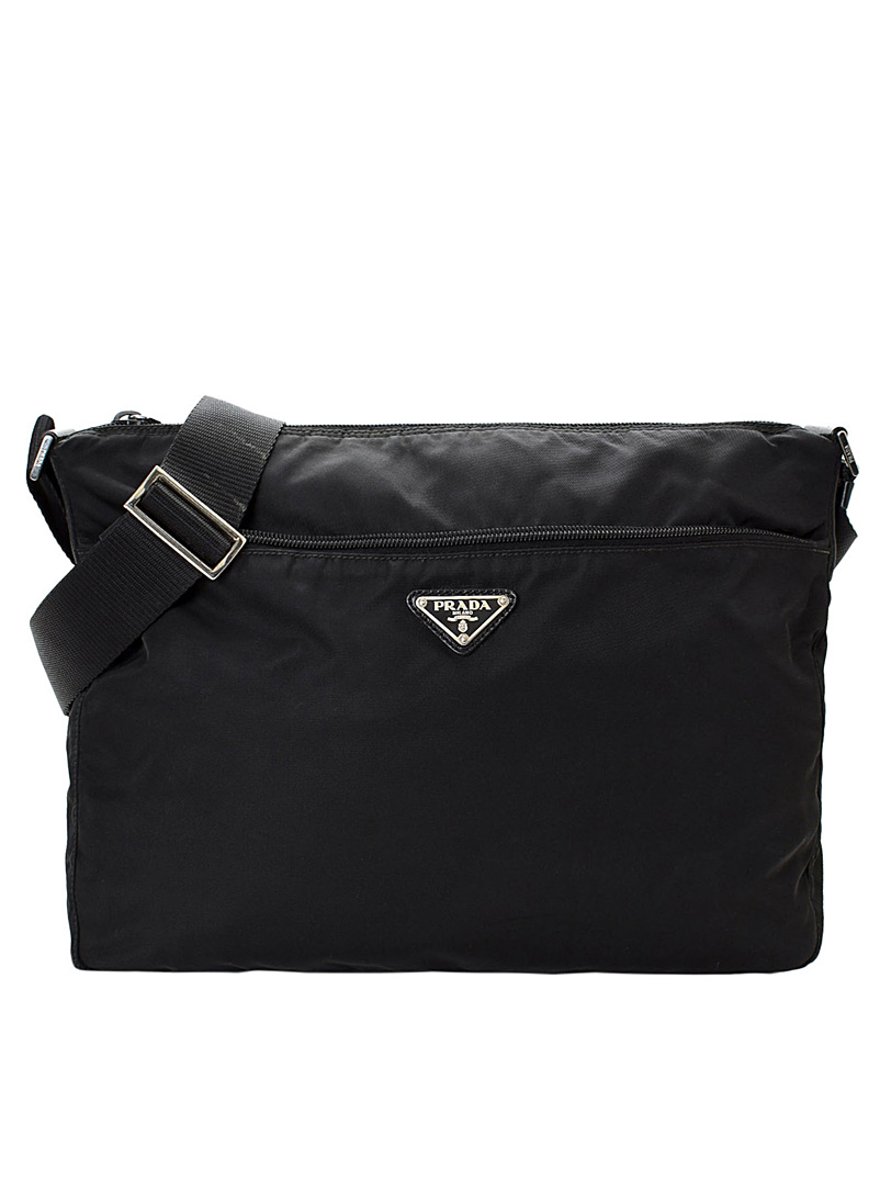LXRandCo Black Minimalist Tessuto crossbody bag  Prada for women