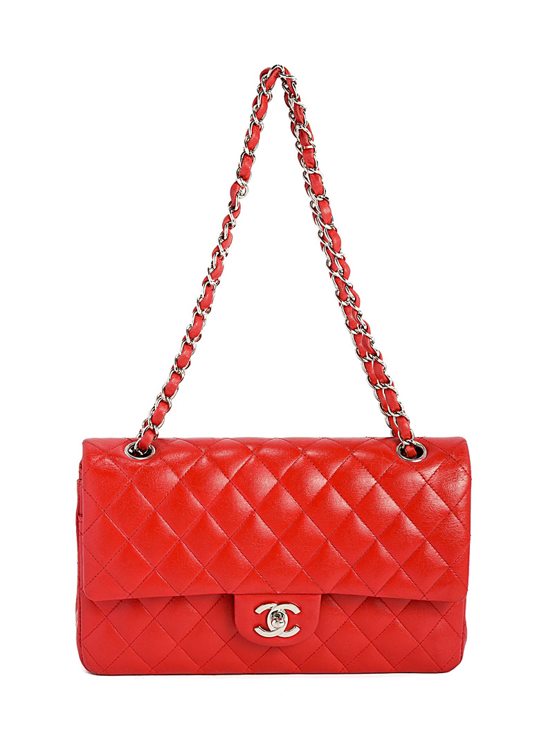 Edito Vintage Red Medium Classic double chain flap bag  Chanel for women